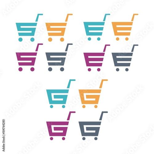 shopping cart logo letter