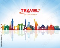 """""""Travel background"""" Stock image and royalty-free vector ..."""