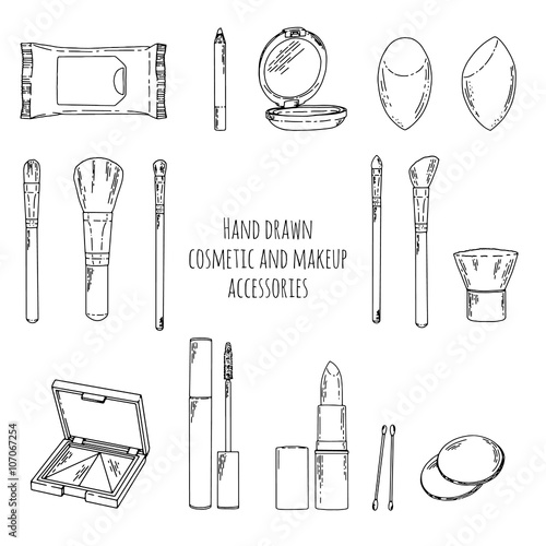 Make Up Bag Coloring Pages Sketch Coloring Page