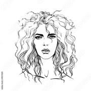 """vector fashion girl portrait"