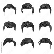 """""""set of men's hairstyles. hipster"""