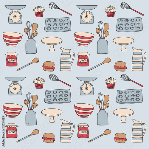 baking cooking icon doodle