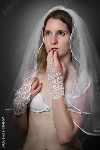 Hochzeit  Braut  Morgengabe  Sexy  Dessous Stock