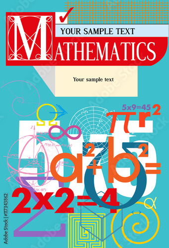 Mathematics Vector cover A background from scientific formulas For book textbook notebook