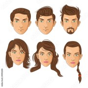 cartoon guy hairstyles