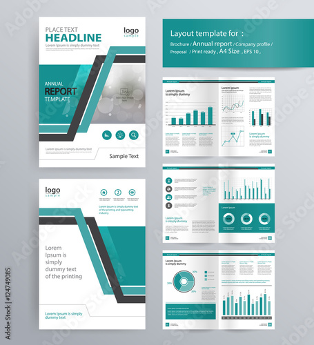 """page Layout For Company Profile Annual Report Brochure"