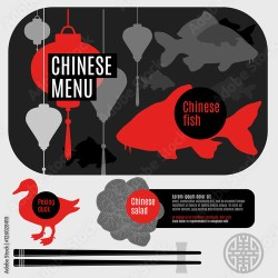 restaurant vector identity elements corporate silhouette cafe plate chinese flat menu cartoon food contents comp similar