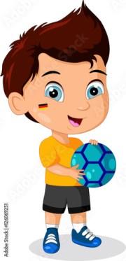 """funny boy cartoon holding ball"""
