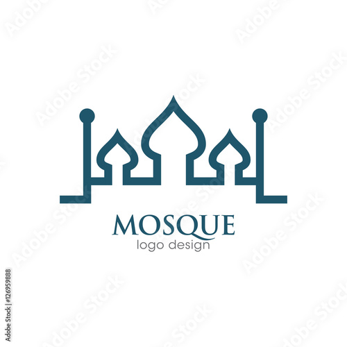 Mosque Creative Concept Logo Design Template Stock image