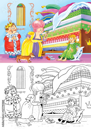 coloring pages kids fairy tale king queen # 13