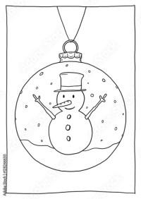 Malvorlage Weihnachtskugeln Zum Drucken Und Ausmalen