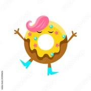 """humanized doughnut with yellow"