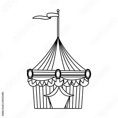 Circus Tent Icon Stock Vector