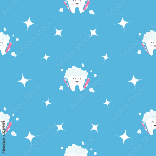 quotPattern Seamless Brush Paste Tooth health Sparkle star
