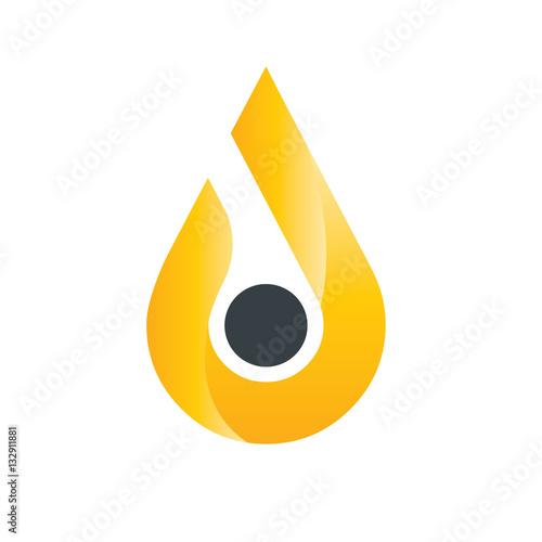 water or oil drop