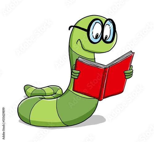 Bücherwurm Malvorlage