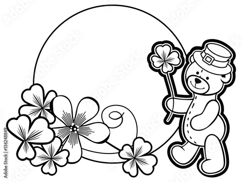 Round Heart Frame Coloring Pages