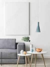 """""""Close up poster in hipster living room background, 3d ..."""