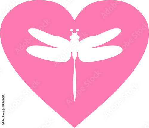 """Download """"Cute Dragonfly Valentine Love Heart"""" Stock image and ..."""