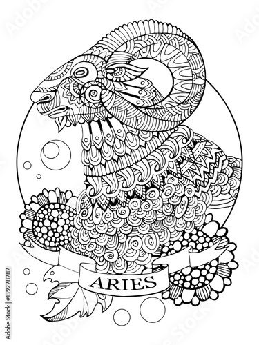 black and white aries horoscope quot aries zodiac sign