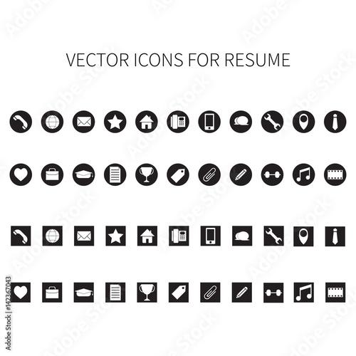 Vector icons for resume fichier vectoriel libre de droits sur la banque dimages Fotoliacom