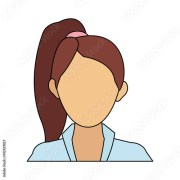 """""""faceless woman with high ponytail"""
