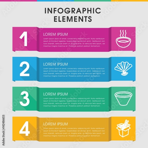 """""""Asian infographic design with elements."""" Stock image and"""