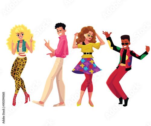 """people in 1980s eighties style"