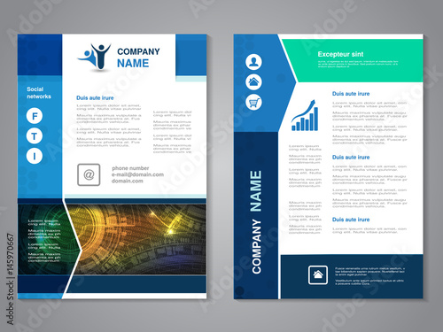 Vector Modern Brochure With Arrow Design Abstract Flyer With