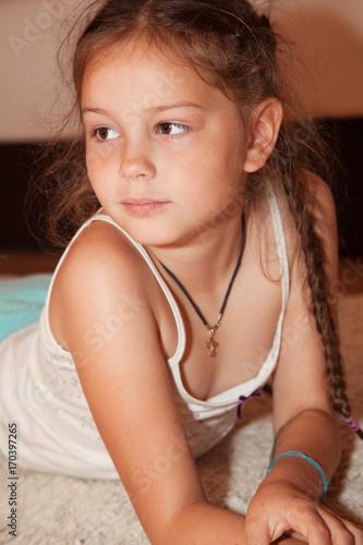 portrait of cute little