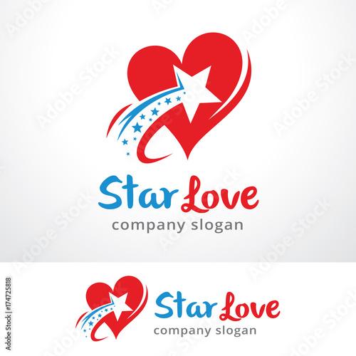 star love logo template
