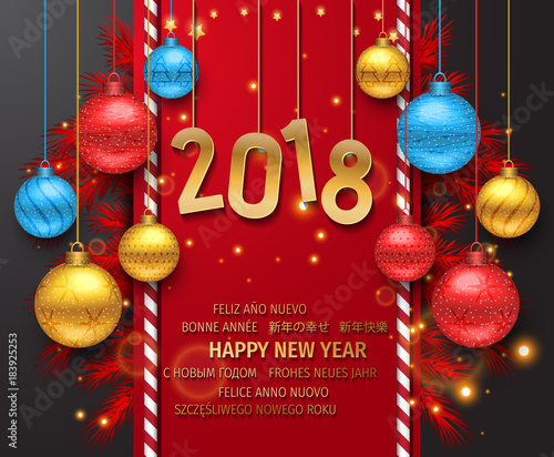 Happy New Year 2018 Background Carte De Voeux New Year
