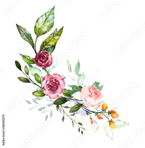 Orange Fall Peonies Wallpaper Quot Watercolor Flowers Hand Painted Floral Illustration