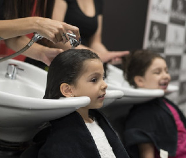 Hairdressers With Little Girls Cleaning Headsg