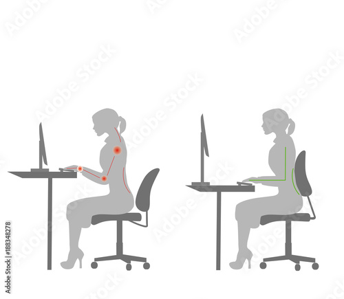 better posture office chair cheapest gaming correct sitting at desk ergonomics advices for workers how to sit