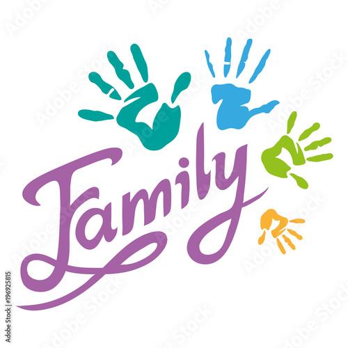 happy family lettering family