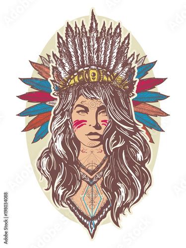 Native American Indian Warrior Tattoo