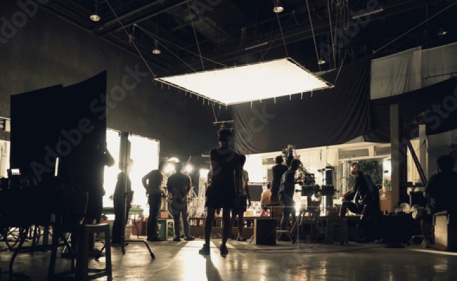 Behind The Scenes Of Silhouette People Working In Big