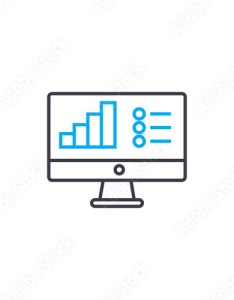 Bar chart legend vector thin line stroke icon outline illustration linear also rh fotolia