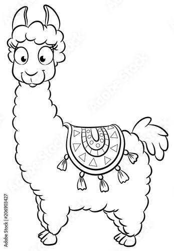 """Niedliches Lama - Vektor-Illustration"" Stock image and"