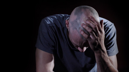 Bald Patches, Alopecia on man's head