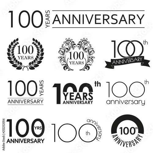 100 years anniversary icon