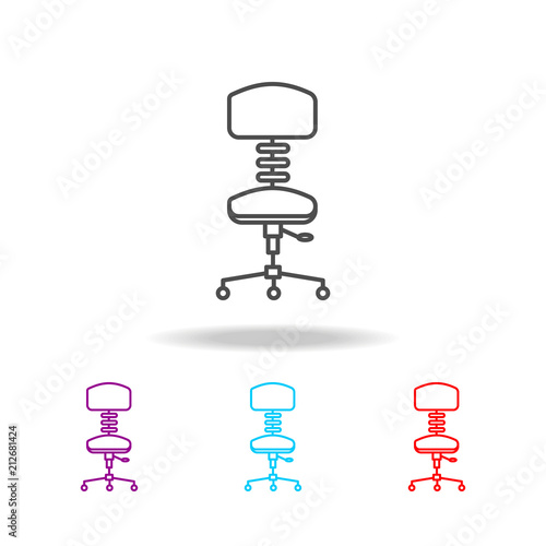 chair design icons salon shampoo office icon elements of furniture in multi colored premium quality graphic