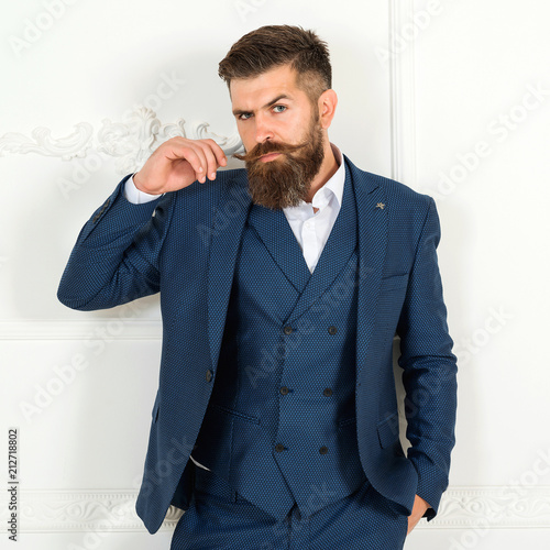 handsome bearded businessman in