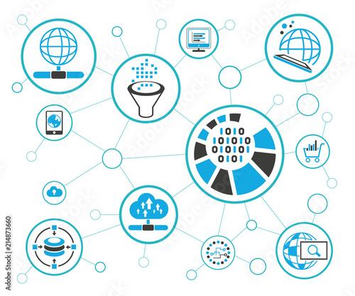 analytics data icons and