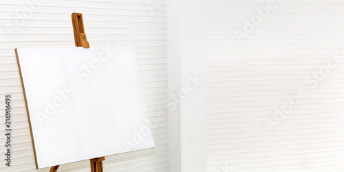 white canvas painting on