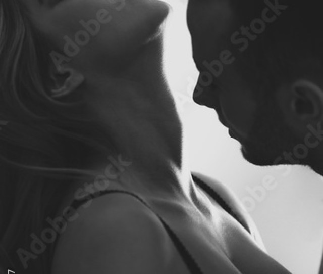 Attractive Sexy Couple During Foreplay Black And White Photo