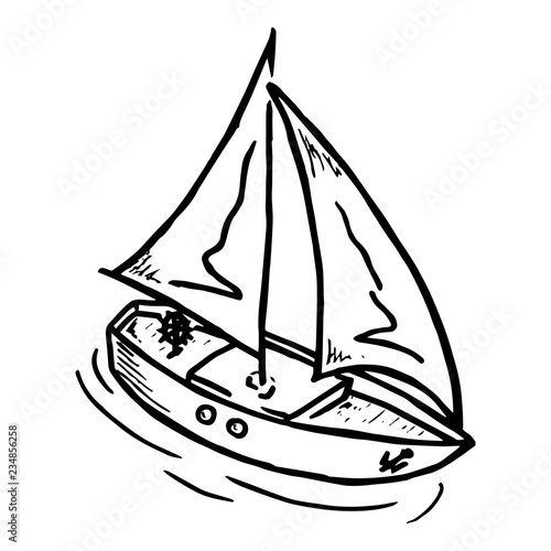 wooden yacht with a