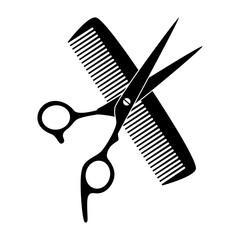 Friseur Logo Schere Und Kamm  Friseur