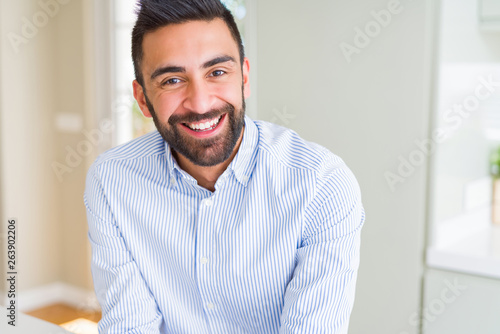 handsome man smiling cheerful